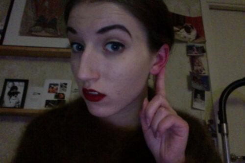 röda varma öron