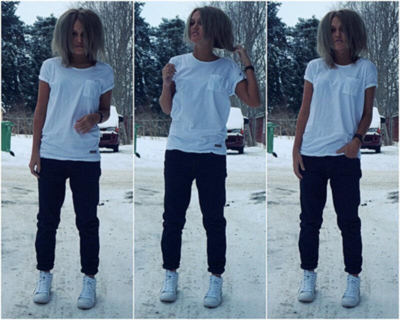 färga blå jeans svarta