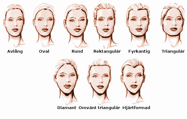 frisyr avlångt ansikte kvinna