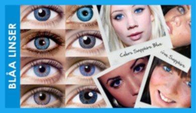 blå linser med styrka