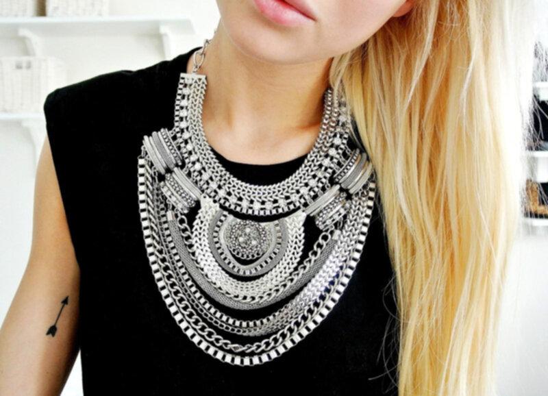 большие ожерелья