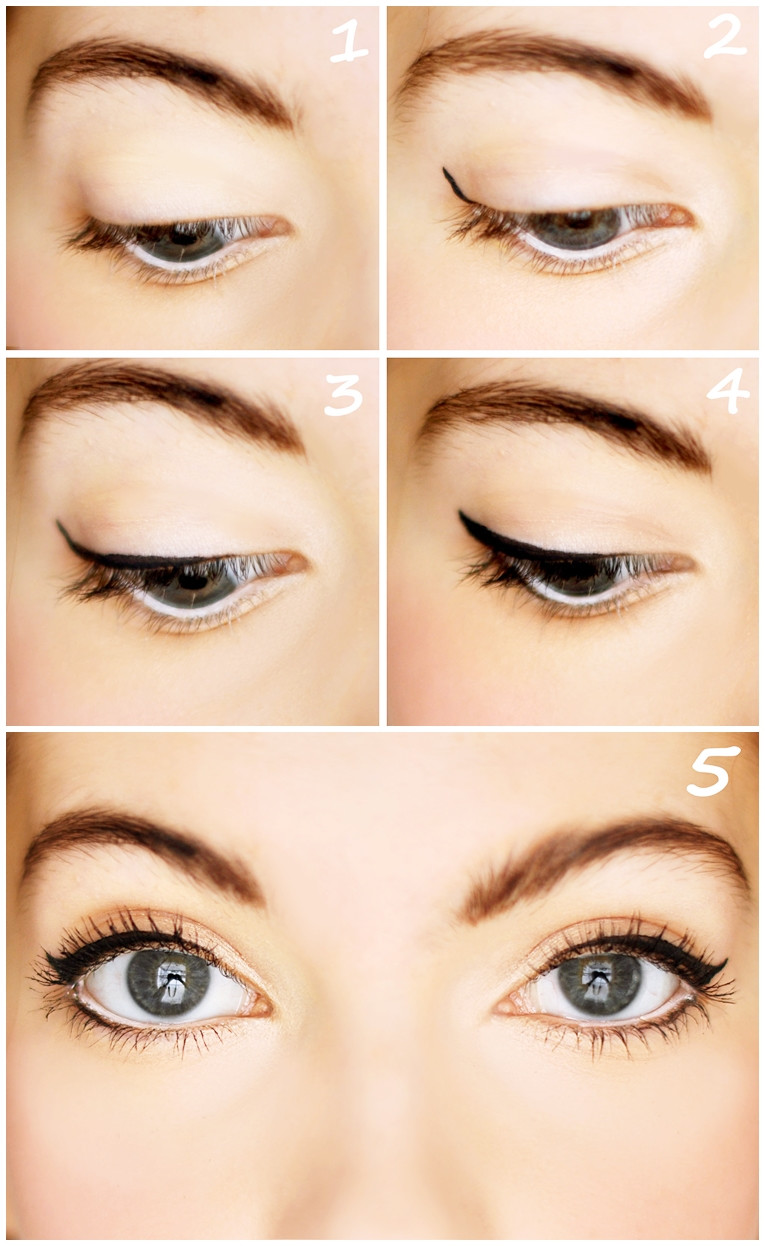 lägga eyeliner steg för steg