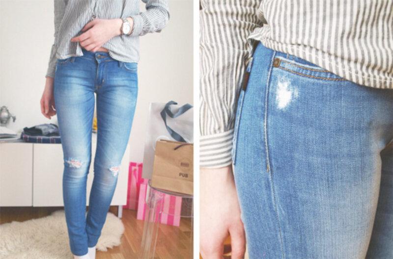 göra jeans större