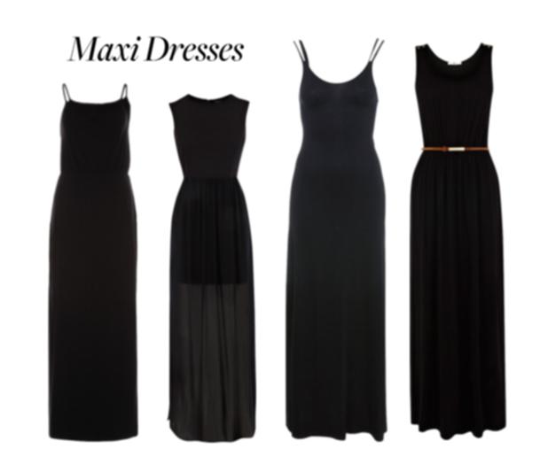 svarta långklänningar online