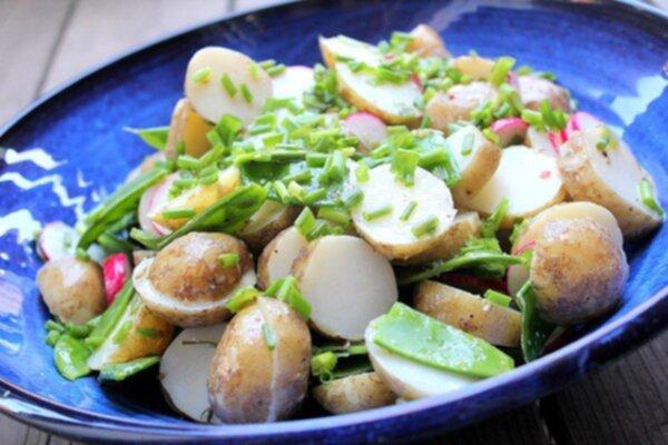 recept potatissallad till många