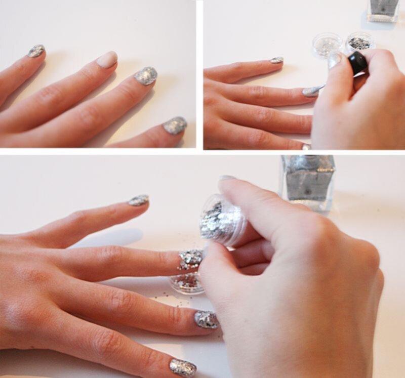 nagelglitter hur gör man