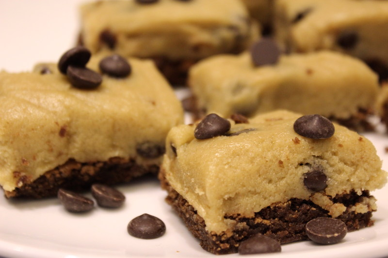 cookie dough brownie recept