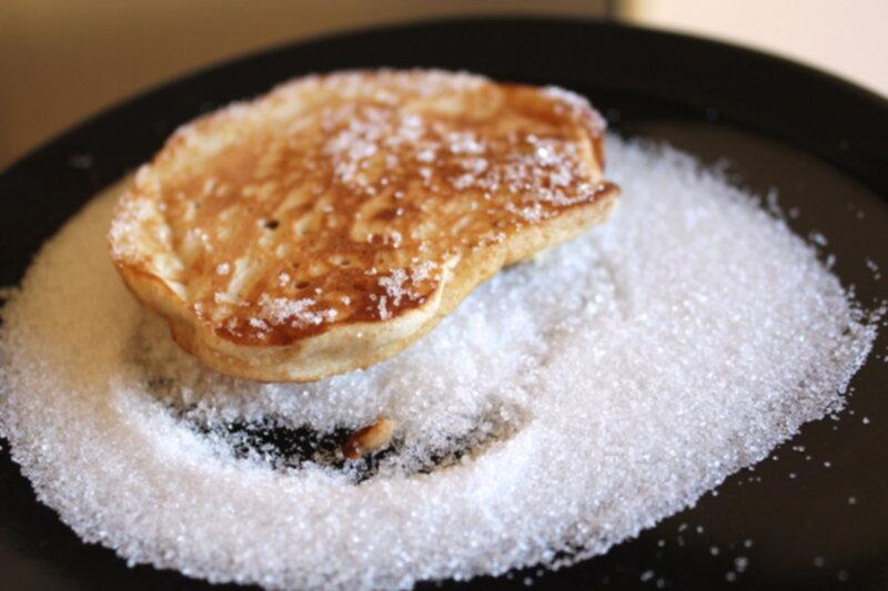 pannkakor med socker