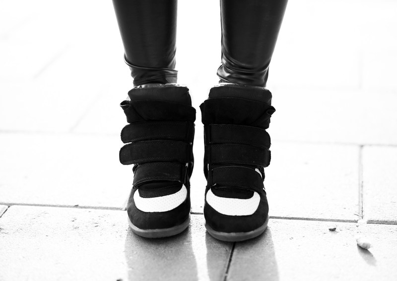 sneakers med klack