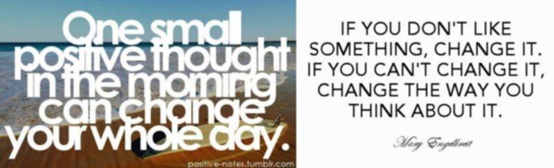 att tänka positivt