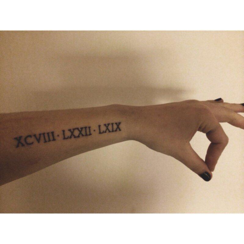 tatuering födelsedatum romerska siffror