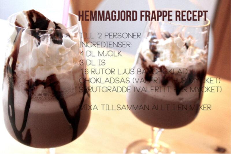 frappe recept choklad
