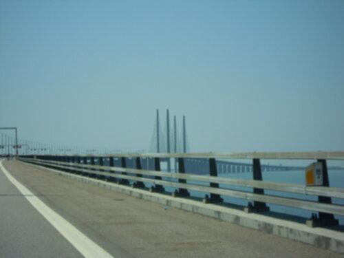 Öresundsbron, mot Danmark.