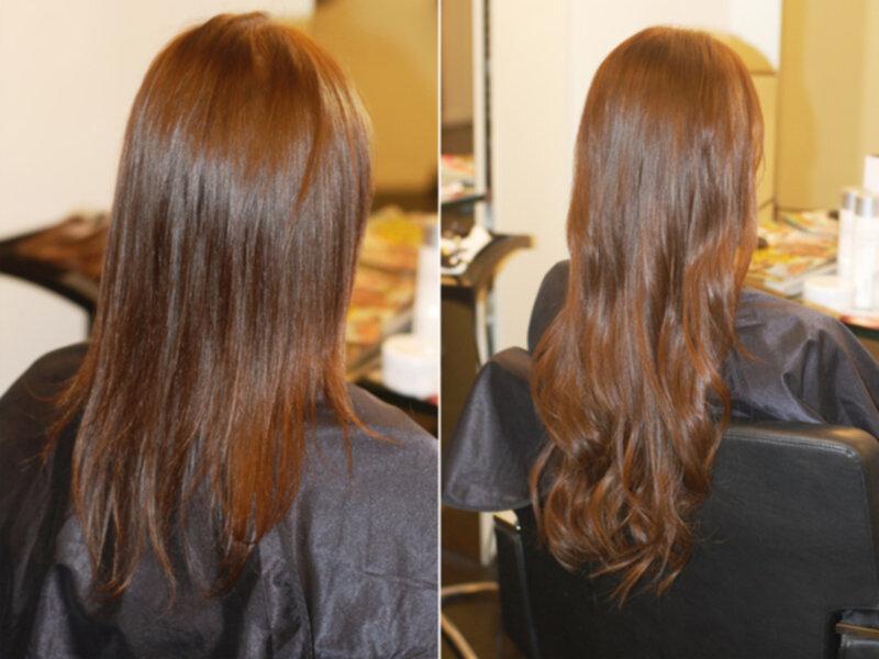 sliter hårförlängning på håret