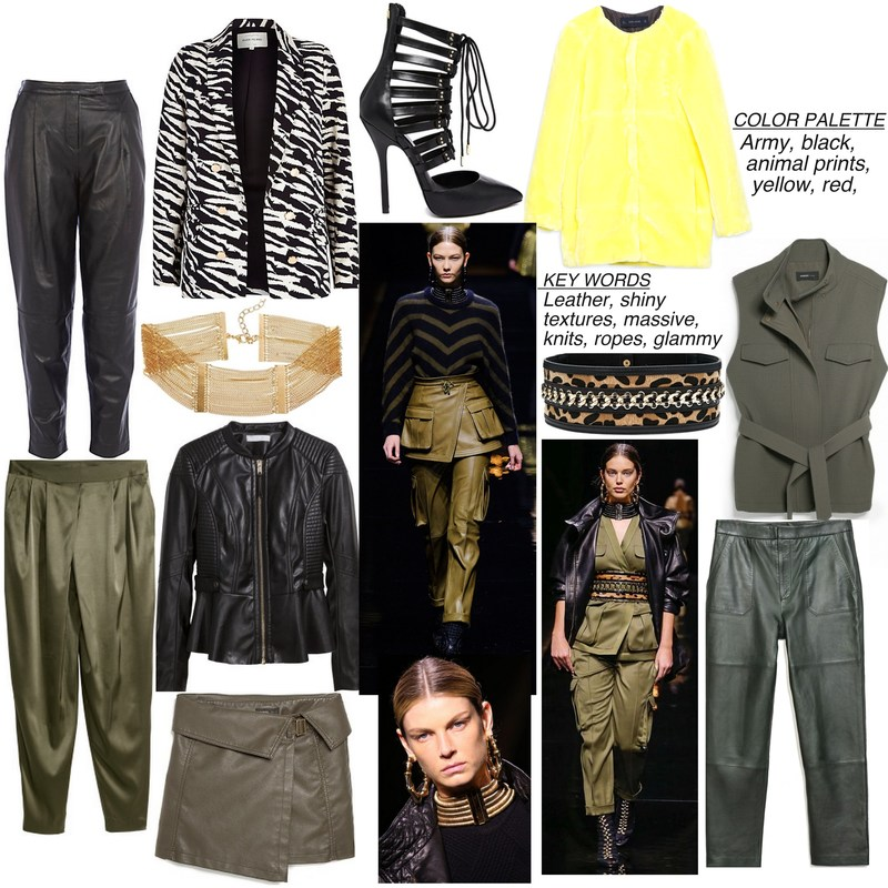 b25fab8c leather pants-River Island // zebra blazer-River Island // necklace-asps //  green shiny pants-H&M // leather jacket-H&M // wrapped skirt-Mango ...