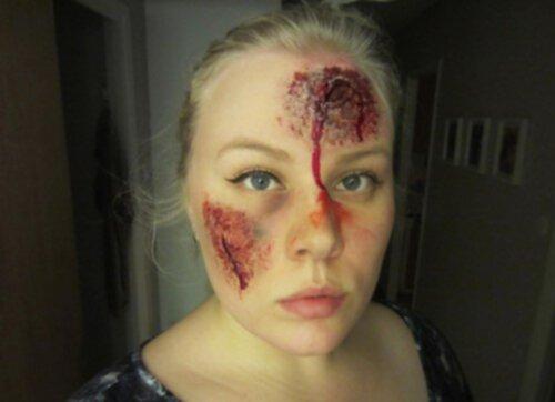 halloween sminkning sår