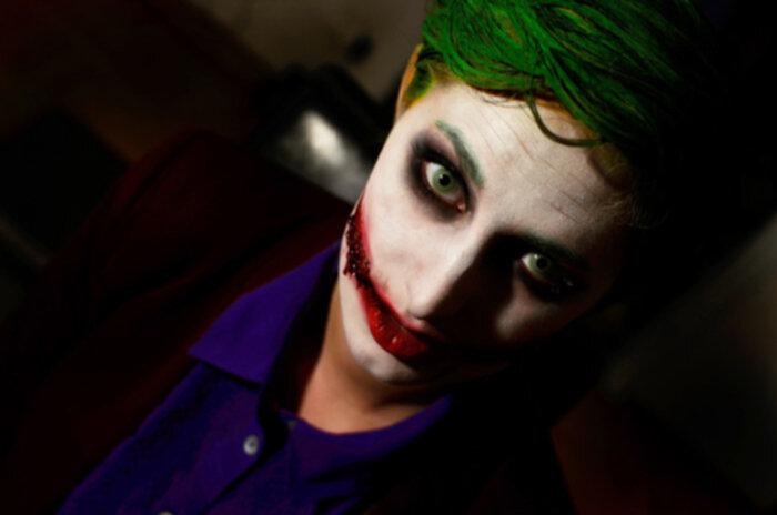 Halloween Sminkning Joker.The Joker