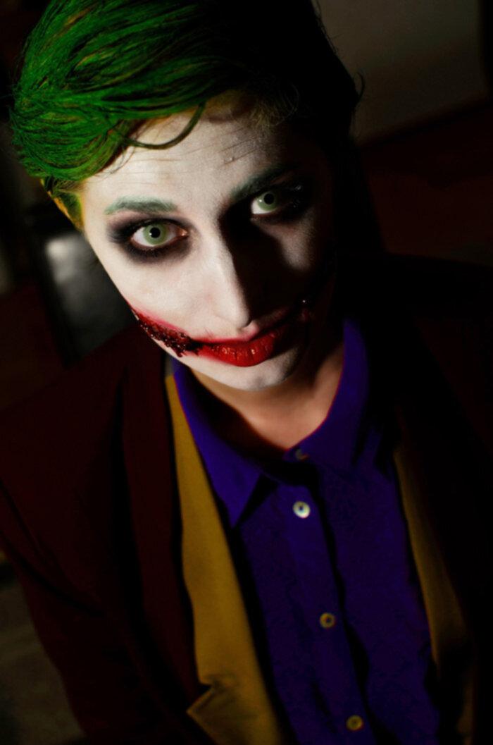 Halloween Sminkning Joker.The Joker Erica Svensson