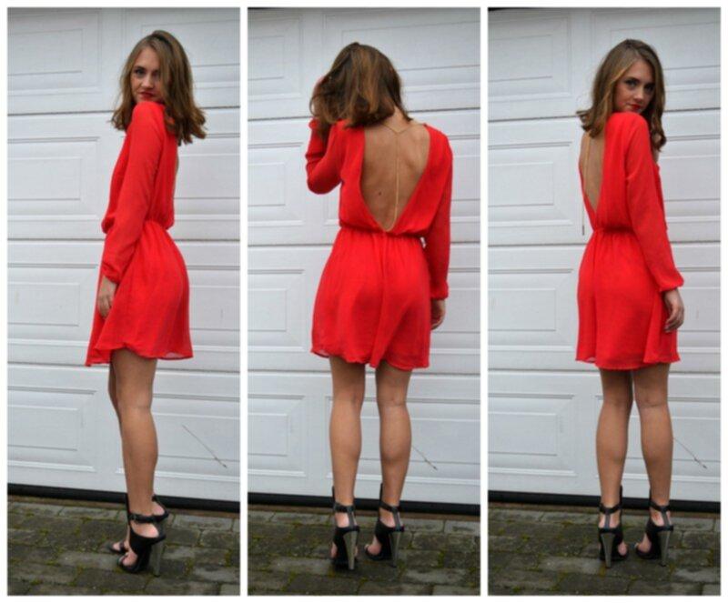 röd klänning bikbok