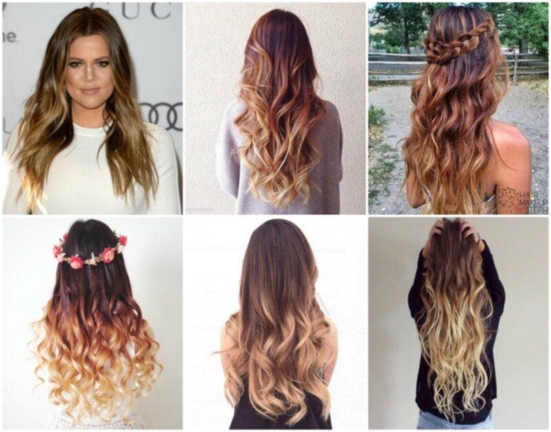 färga håret ombre