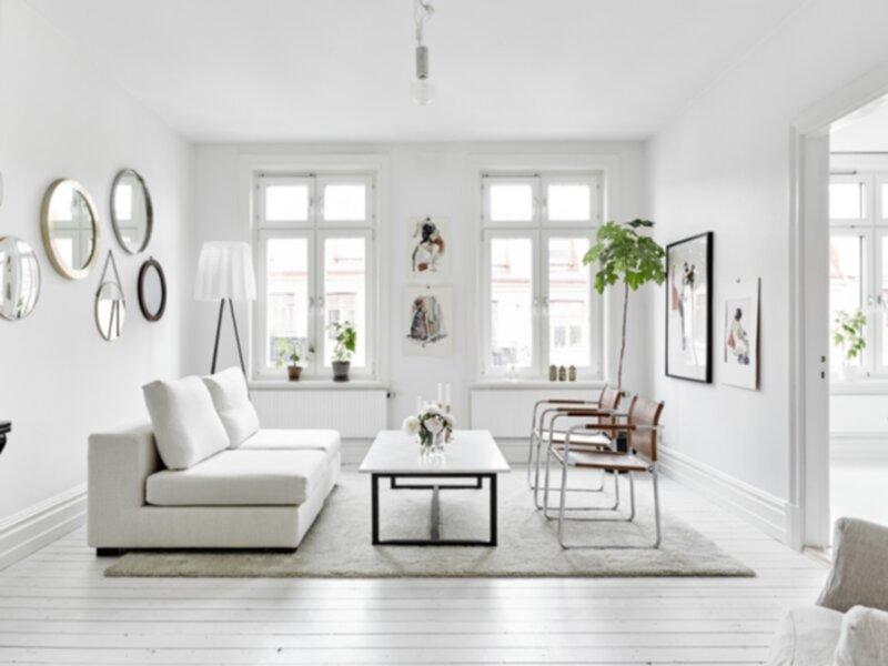 Vitt - Deco idee witte woonkamer ...