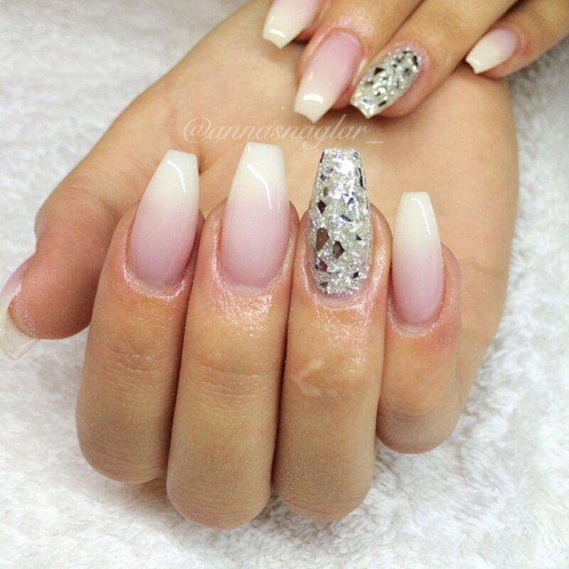 silver flakes naglar
