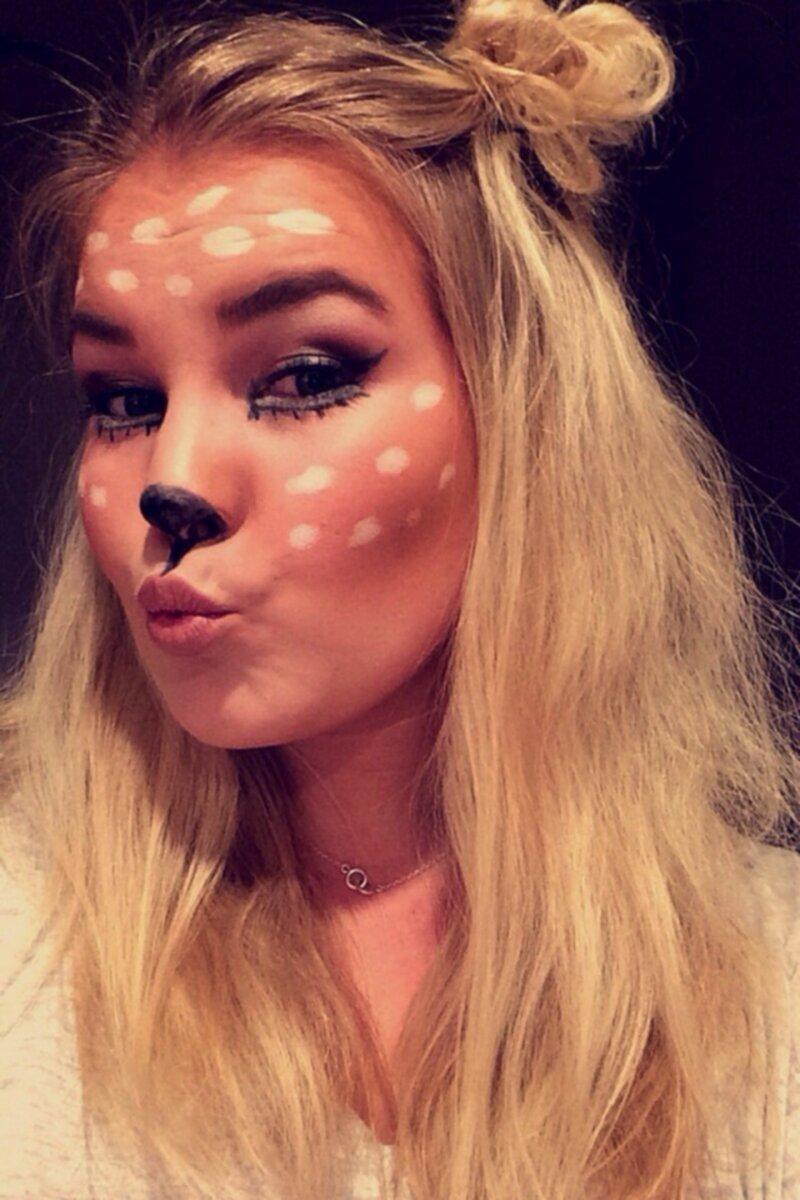 Laskiga Halloween Sminkningar.Bambi
