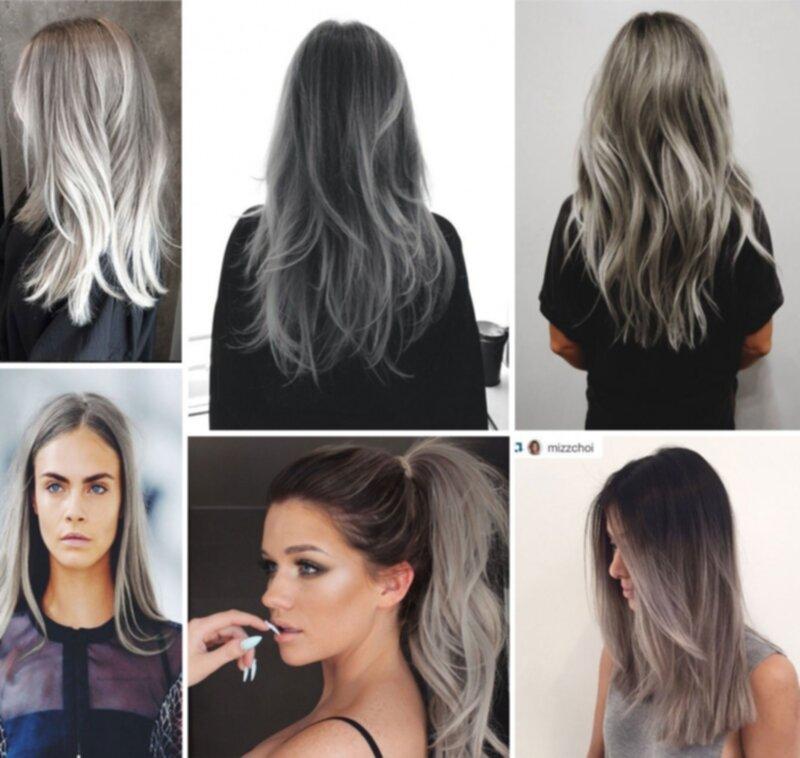 färga håret grått från svart