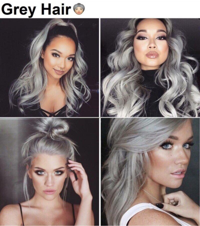 färga håret grått med silverschampo