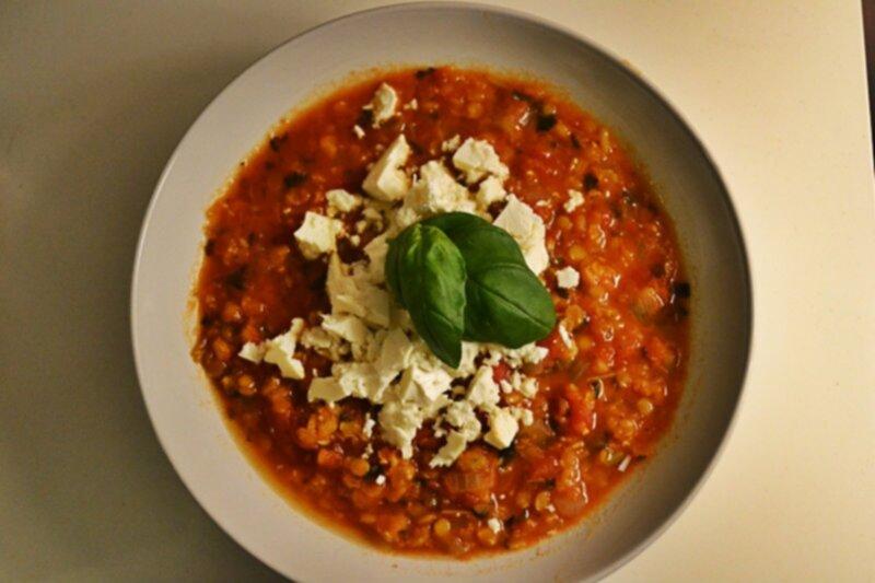 tomat och linssoppa