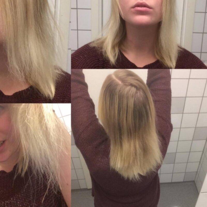 extremt slitet hår
