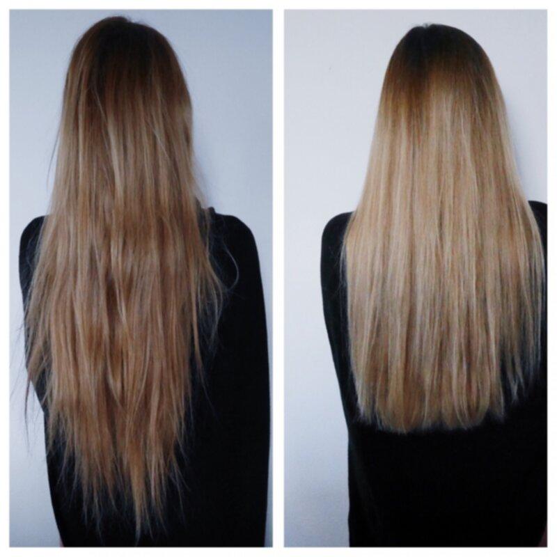 klippa slitet hår
