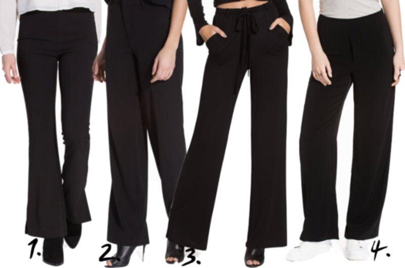 svarta vida kostymbyxor