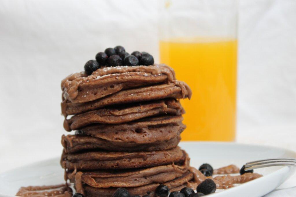 amerikanska pannkakor choklad