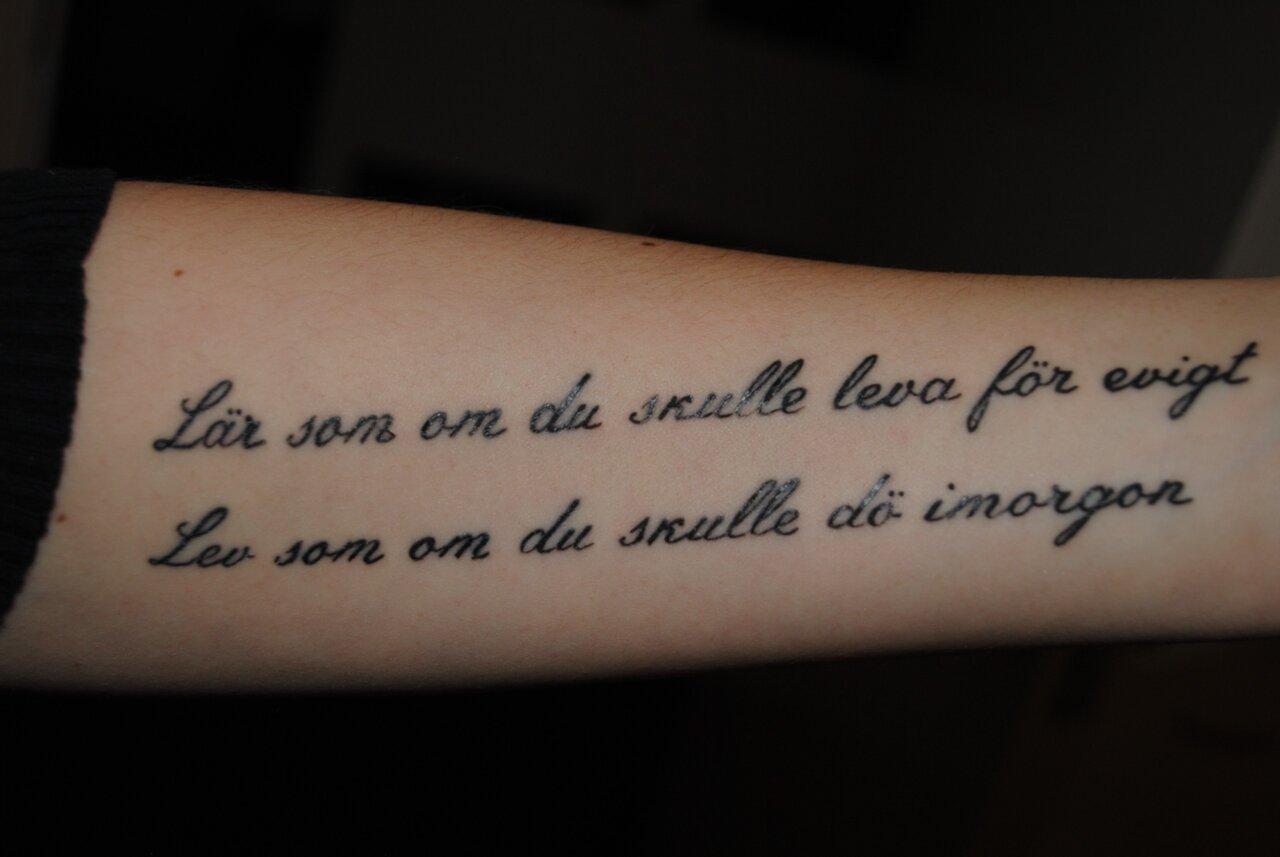 minnes tatueringar text