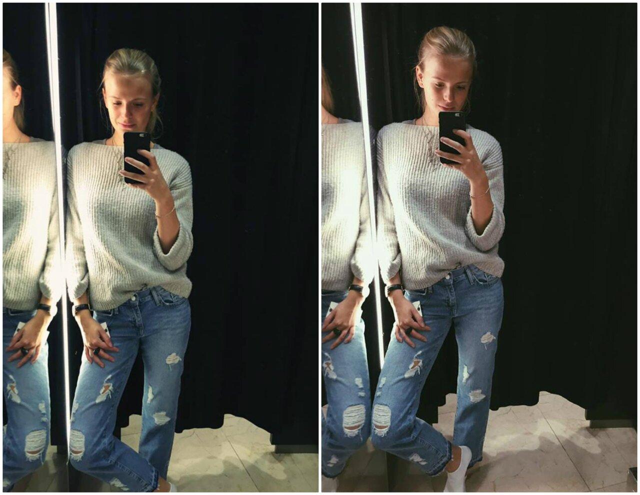 jeans långa ben