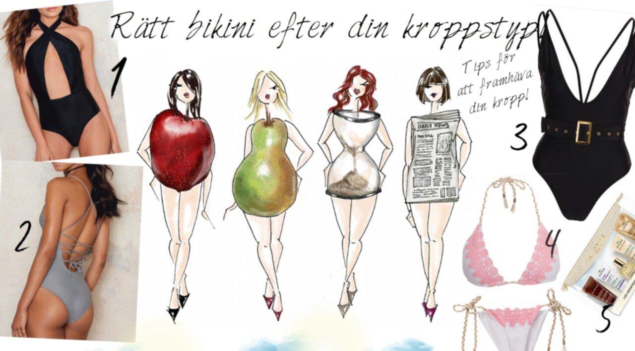 rätt bikini för din kroppstyp