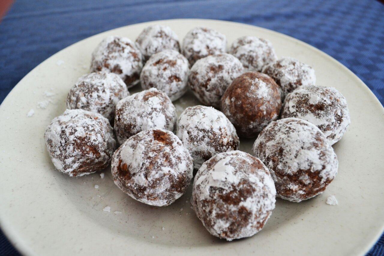 chokladbollar med oboy istället för kakao