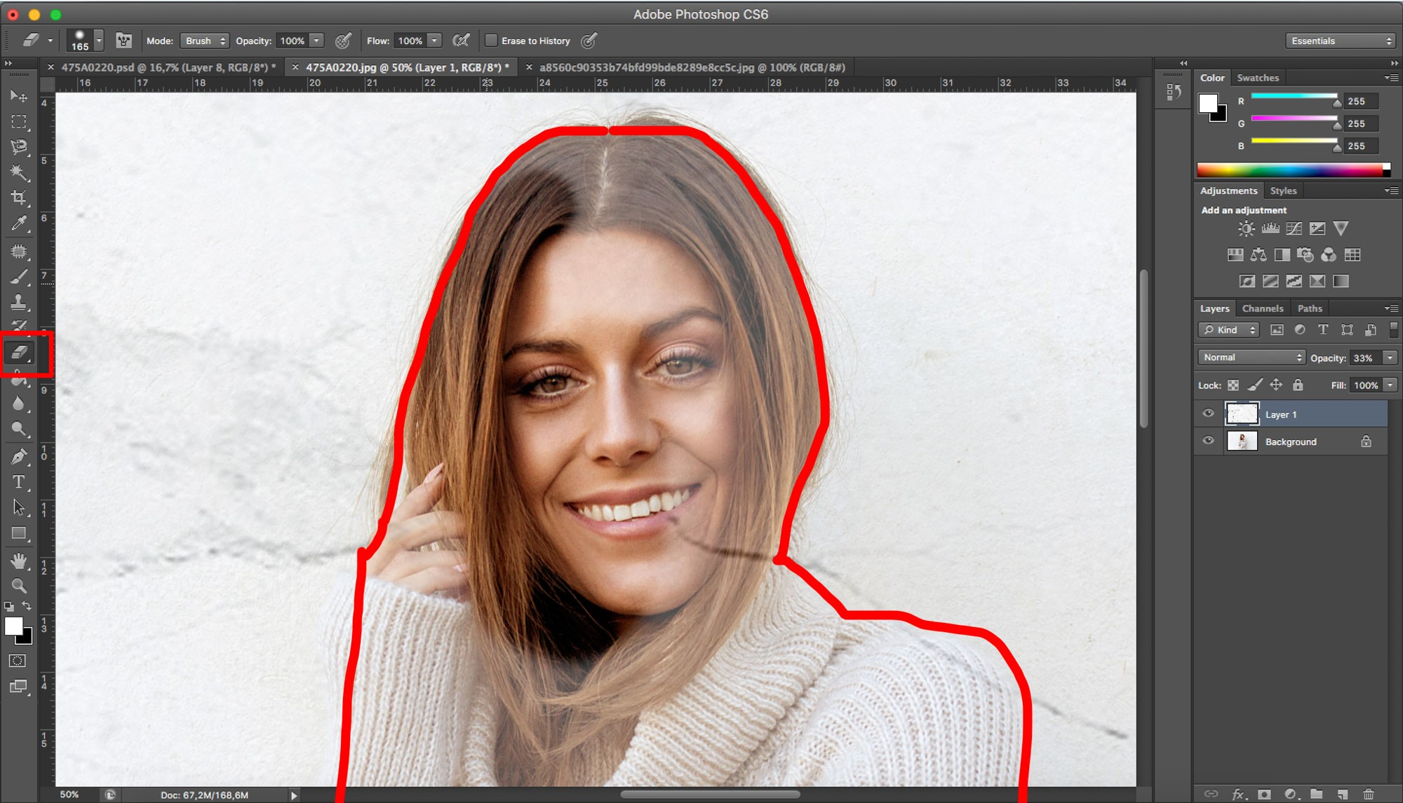 förminska i photoshop