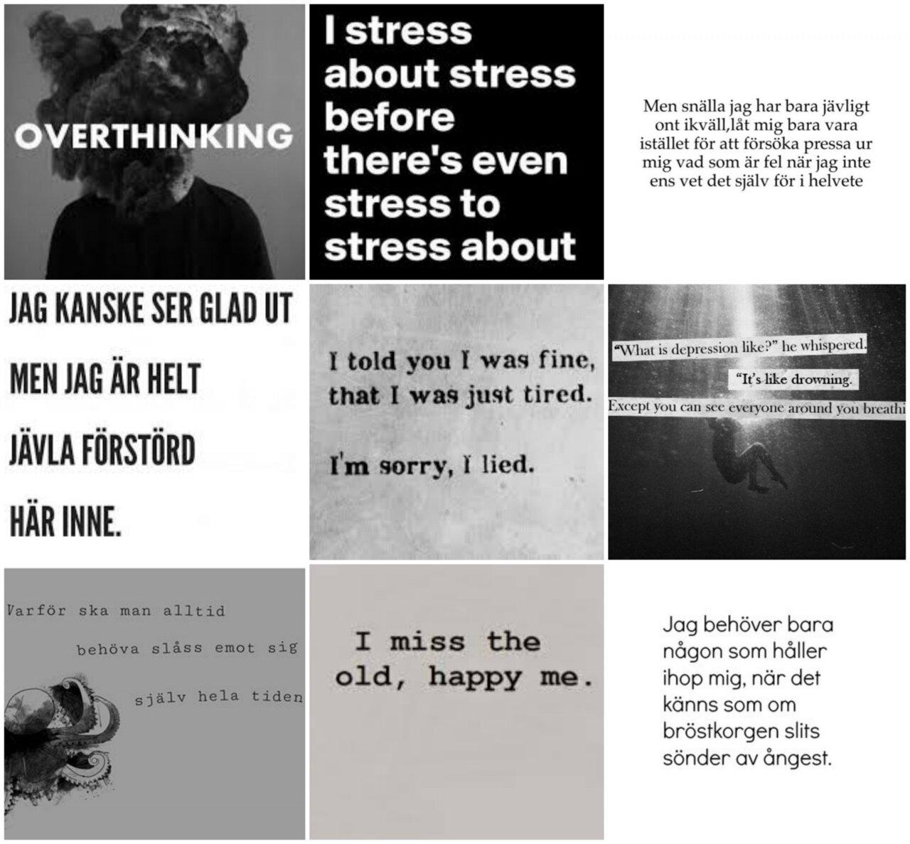 inre stress ångest