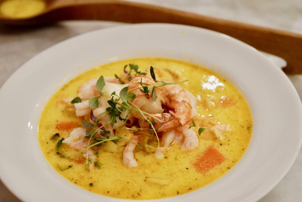 fisksoppa med lax