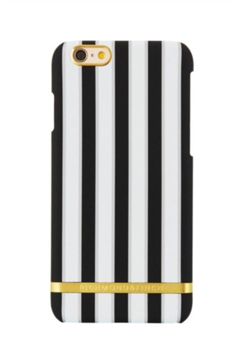 Stilrent skal med svart vita ränder och gulddetaljer i färgen Sharkskin  stripes. 8ff84cf279fd1