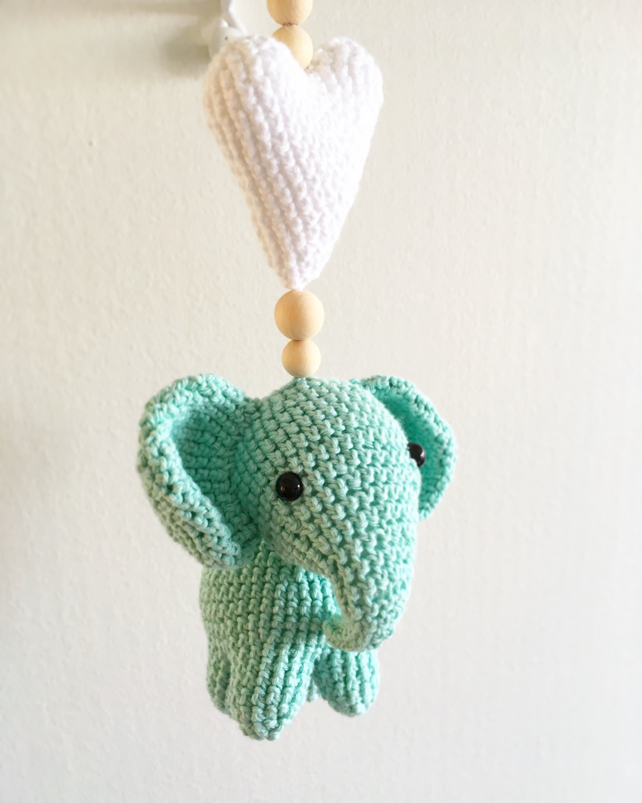 gratis mönster virka elefant