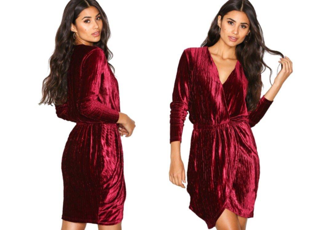 glittrig kort klänning