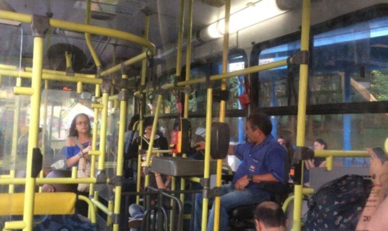 busschaufför misshandlad av kontrollant