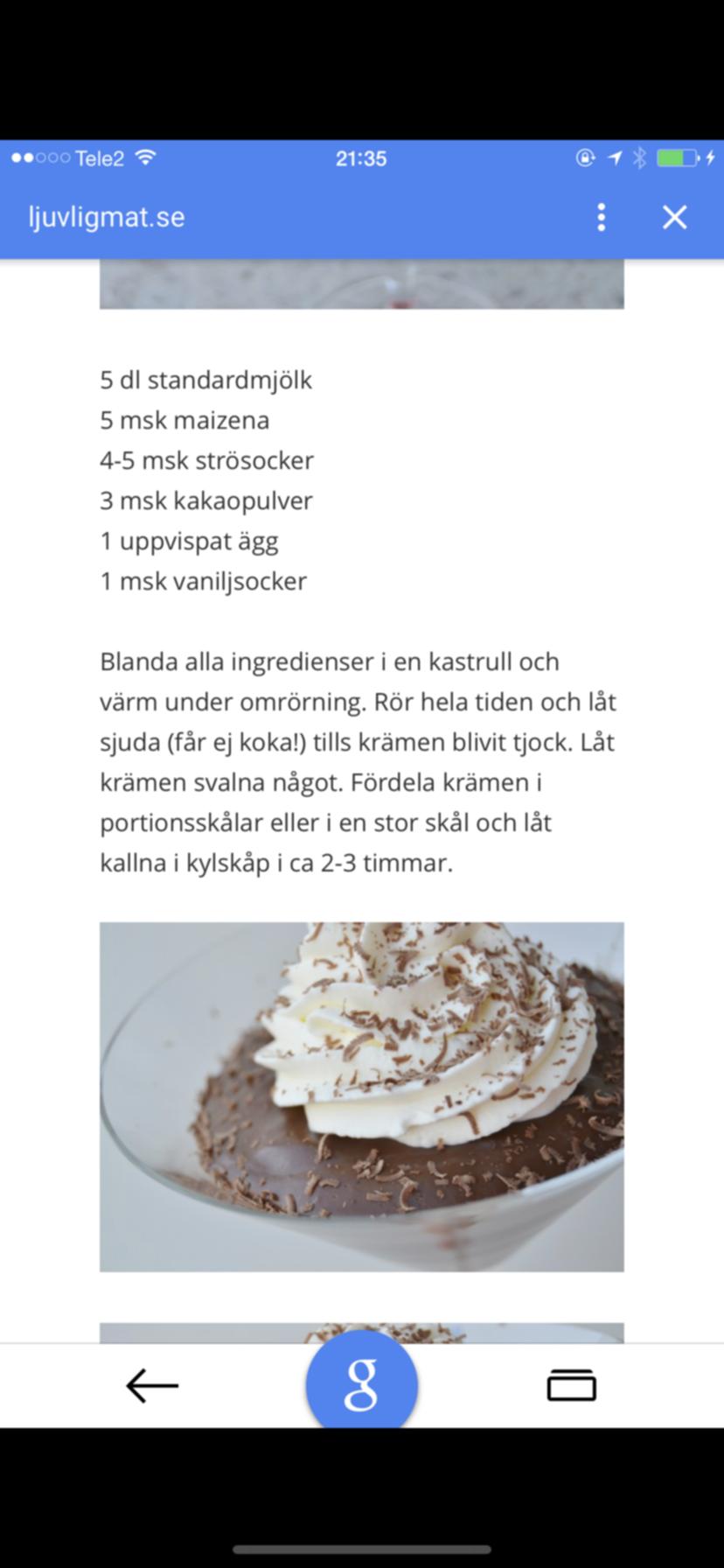 Chocolate cream pie!!